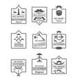 set no shave november labels vector image