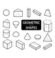 set of 3d geometric shapes isometric views the vector image vector image