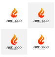 set of fire logo design concepts flame logo vector image vector image