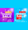 summer sale discount hot price off banner set vector image