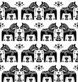 Swedish Dala or Daleclarian horse seamless pattern vector image vector image