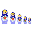 Traditional matryoschka dolls vector image vector image