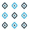 types icons colored set with file jsp file video vector image vector image