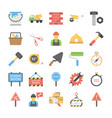 under construction flat icons vector image