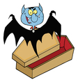 Vampire Out Of The Coffin vector image vector image