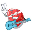 with guitar chovolate heart box isolated with vector image