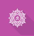 sahasrara beautiful indian ornamental chakra vector image