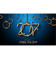 2017 Happy New Year Background for your Seasonal vector image vector image