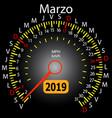 2019 year calendar speedometer car in spanish vector image vector image