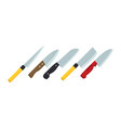 a set knives in flat style vector image vector image