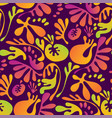 abstract tropical colorful floral seamless pattern vector image vector image