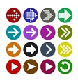 Arrow sign icon set vector image vector image