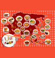 asian food infography vector image vector image