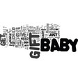 babygifts text word cloud concept vector image vector image