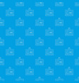 badge office pattern seamless blue vector image vector image