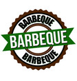 barbecue label or sticker vector image