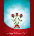 beautiful rose bouquet vector image vector image
