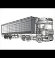 black and white truck painted lines vector image vector image