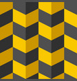 black and yellow chevron stylish texture with vector image vector image