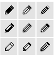 black pencil icon set vector image vector image
