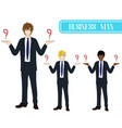 business man selection with serious face vector image
