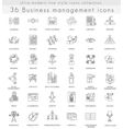 Business management ultra modern outline vector image vector image