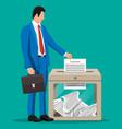 businessman and ballot box vector image