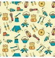 Camping holiday seamless pattern vector image