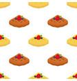 cartoon seamless pattern of belgian hinese waffle vector image