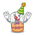 clown easter cake mascot cartoon vector image vector image