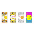 collection of sale posters with tropical fruits vector image