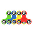 color hand fidget spinners set vector image