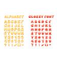 comic game font cartoon bubble lettering fonts vector image