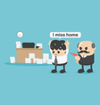 concept businessman did not return homeI miss home vector image vector image