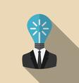 concept lamp new idea vector image vector image