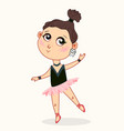 cute baby girl ballerina dancing childish style vector image