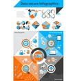 Data secure infographics vector image vector image