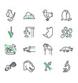 de-extinction biology scientific icons set vector image vector image