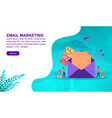 email marketing concept with character template vector image vector image