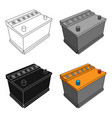 for automobile batterycar single icon in cartoon vector image