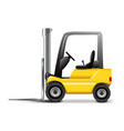 Forklift isolated on white vector image vector image