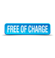 free of charge blue 3d realistic square isolated vector image