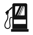 Gas station black simple icon vector image vector image