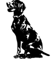 german pointer silhouette vector image vector image