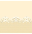 golden lace border vector image
