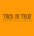 halloween trick or treat card vector image vector image