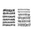hand drawn set of objects for design use black vector image vector image