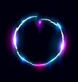 illuminated collapsing circle design element vector image