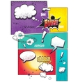 Image comic book pages with different speech vector image vector image