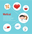 infographic design for medical theme vector image
